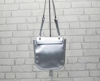 Дамска чанта еко кожа сребриста HEHV-24522