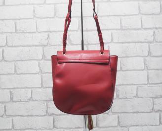 Дамска чанта еко кожа червена OVYC-24523