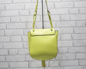 Дамска чанта еко кожа  жълта TEAS-24524