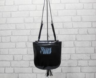 Дамска чанта еко кожа/лак черна ERJA-24528