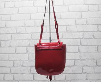 Дамска чанта еко кожа/лак червена GOHH-24529
