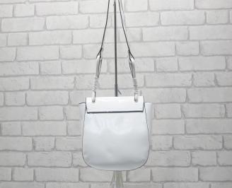 Дамска чанта еко кожа/лак бяла XNTM-24530