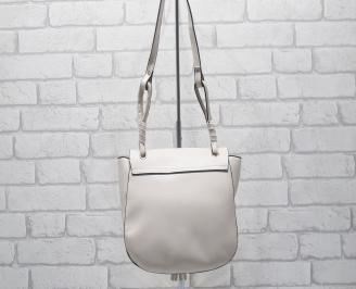 Дамска чанта еко кожа/лак светла пудра BYOQ-24532