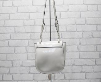 Дамска чанта еко кожа/лак бежова OFXF-24533