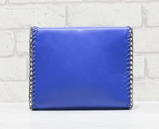 Дамска чанта еко кожа синя RLHE-24534