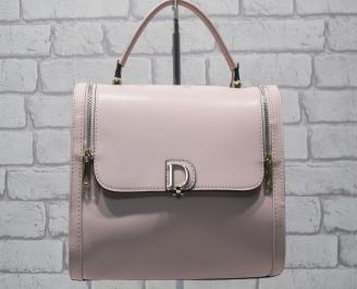 Дамска чанта еко кожа пудра KGFD-24549