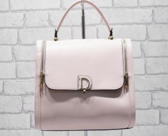 Дамска чанта еко кожа розова MTOW-24550