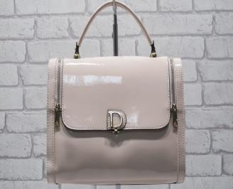 Дамска чанта еко кожа пудра HUYY-24551