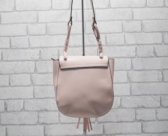 Дамска чанта еко кожа розова COTY-24554