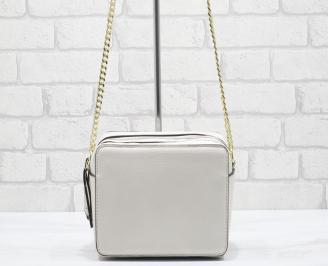 Дамска чанта еко кожа бежова TJER-24867