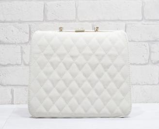 Дамска чанта еко кожа в бежов цвят GXSB-24880
