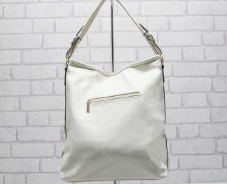 Дамска чанта еко кожа в бежов цвят CNDT-24882