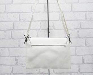 Дамска чанта еко кожа в бежов цвят MWQI-24883