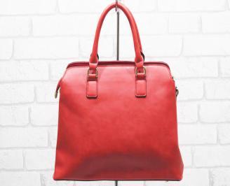 Дамска чанта еко кожа червена HCHO-25001