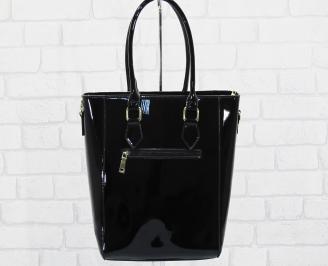 Дамска чанта еко кожа/лак черна CJEU-25141