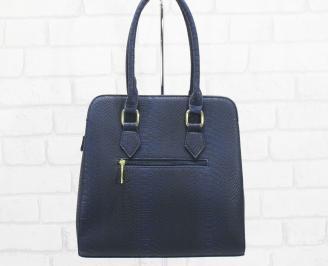 Дамска чанта еко кожа тъмно синя RUJN-25142