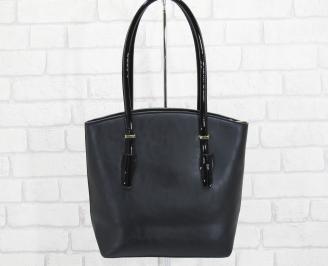 Дамска чанта еко кожа черна TGZU-25143