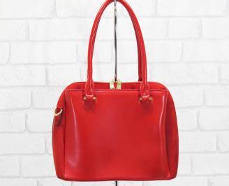 Дамска чанта еко кожа/еко набук червена ABPQ-25144