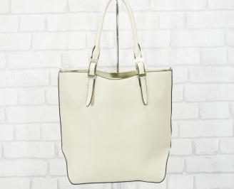 Дамска чанта еко кожа бежова ZYIW-25145