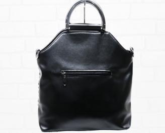 Дамска чанта еко кожа черна LESP-25320