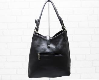 Дамска чанта еко кожа черна UUUO-25322