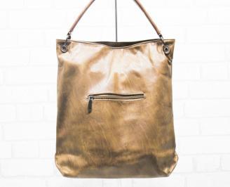 Дамска чанта еко кожа кафява IAJW-25378