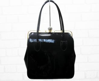 Дамска чанта еко кожа/лак черна DTQR-25393