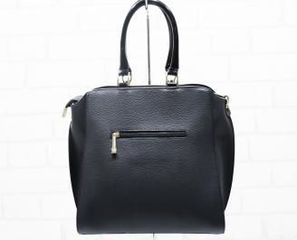 Дамска чанта еко кожа черна NLXA-25394