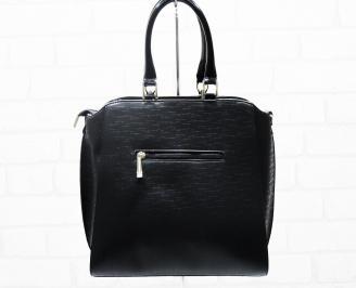 Дамска чанта еко кожа черна RUUG-25395