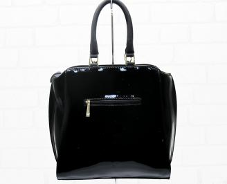 Дамска чанта еко кожа/лак черна JGVF-25396