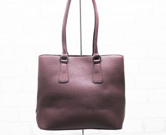 Дамска чанта еко кожа бордо WWHK-25403