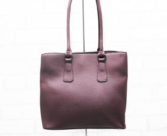 Дамска чанта еко кожа бордо GQCV-25404