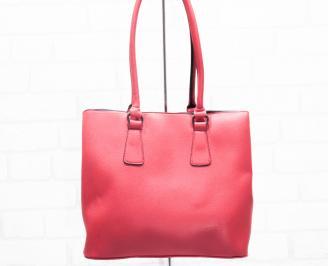 Дамска чанта еко кожа червена TOAL-25405