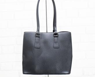 Дамска чанта еко кожа черна LPJC-25410