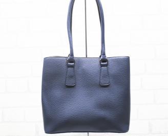 Дамска чанта еко кожа синя ULVA-25415