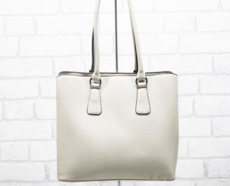 Дамска чанта еко кожа бежова YSJA-25419