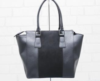 Дамска чанта еко кожа черна SLRB-25479