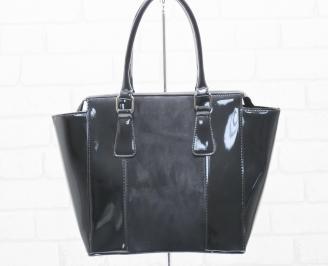 Дамска чанта еко кожа/лак черна GZOC-25481