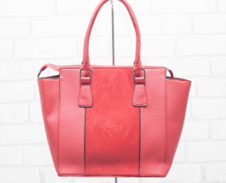 Дамска чанта еко кожа червена ZOGA-25482