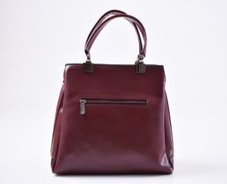 Дамска чанта еко кожа бордо YVCY-25652