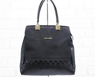 Дамска чанта еко кожа черна CUGT-25653