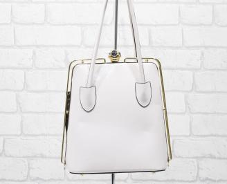 Дамска чанта еко кожа /лак пудра GDTQ-25885