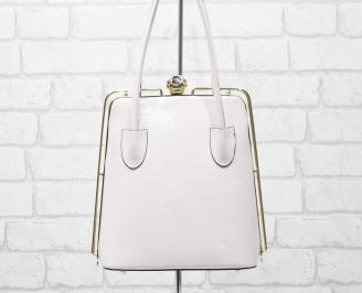 Дамска чанта еко кожа /лак розова WZRZ-25886