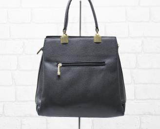 Дамска чанта еко кожа черна ZLPA-25887