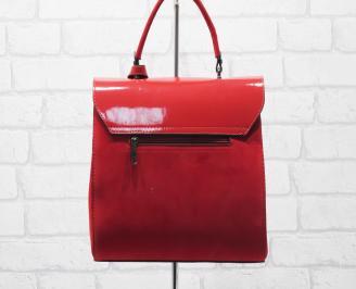 Дамска чанта еко кожа /лак червена XNAK-25888
