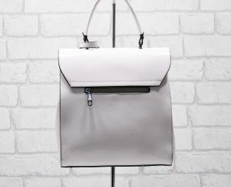 Дамска чанта еко кожа /лак пудра LZVK-25890