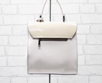 Дамска чанта еко кожа /лак розова EONW-25891