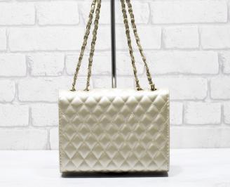 Дамска чанта еко кожа златиста XFBY-26243
