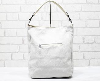 Дамска чанта еко кожа бежова ERNI-26266