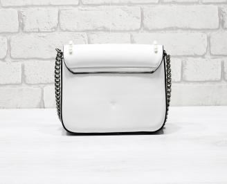 Дамска чанта еко кожа бяла LRZW-26284
